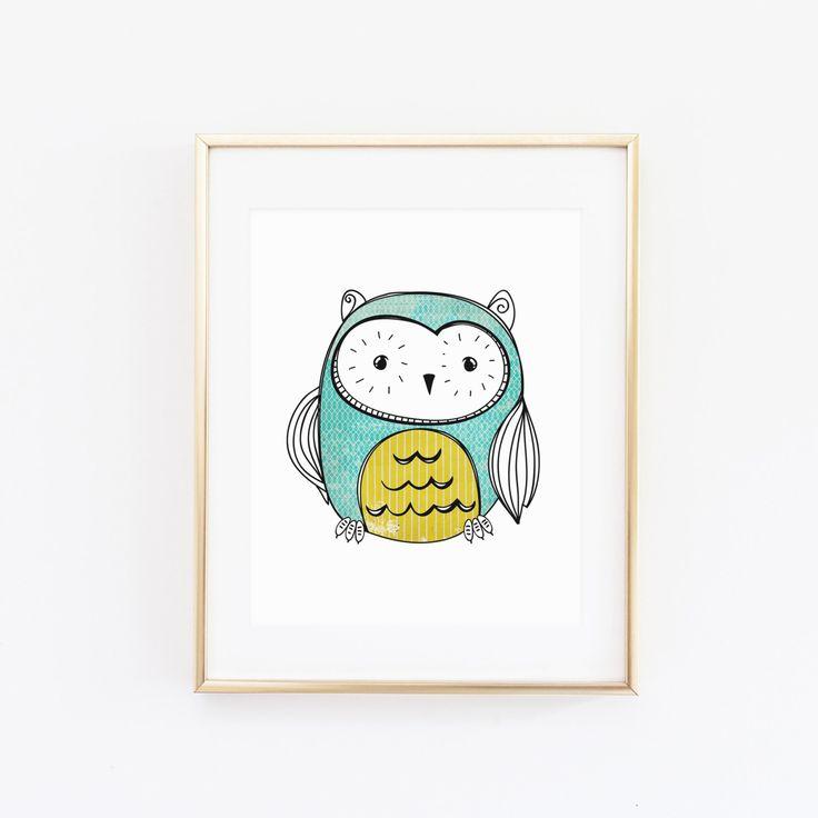 8x10 Owl Printable Art Print, Owl Nursery Art, Vintage Inspired Wall Art, Doodle Printable, Owl Decor, Nursery Printable, Instant Download by PaperCanoePrintables on Etsy https://www.etsy.com/listing/193411117/8x10-owl-printable-art-print-owl-nursery