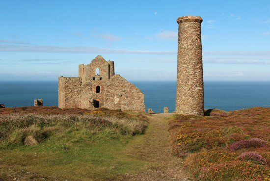 Stamps and Whim Engine House, Wheal Coates Mine, St. Agnes, Cornwall, UK