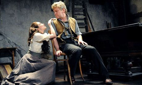 Andrea Riseborough and Kenneth Branagh in Ivanov, Wyndham Theatre London 2008