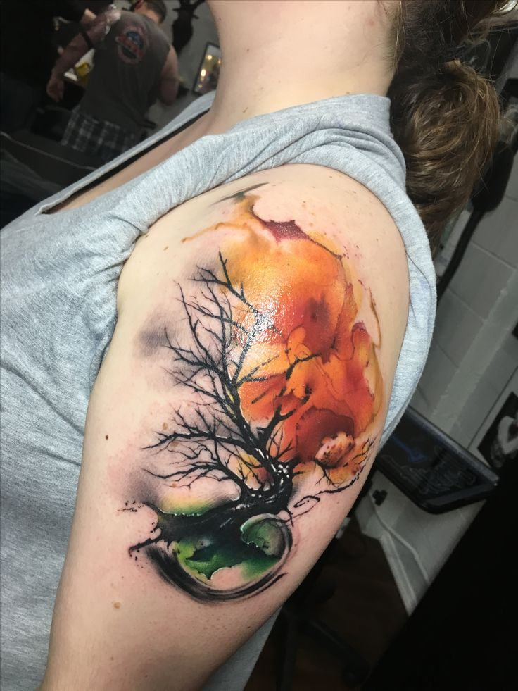 17 best ideas about watercolor tattoo tree on pinterest for Tree of life watercolor tattoo