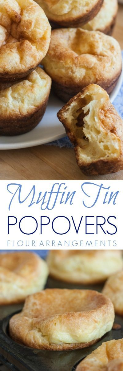 These light, tender Muffin Tin Popovers are quick and easy to prepare, and they don't require a popover pan, so you can make them without investing in specialty equipment.
