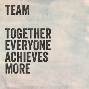 teamwork quote #dream #togetherwecan #teamwork