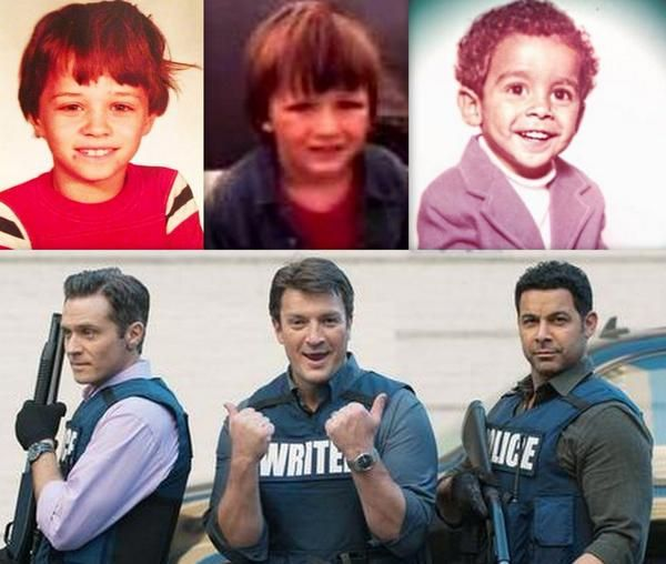 """Before & After"" Seamus Dever, Nathan Fillion & Jon Huertas #Castle"