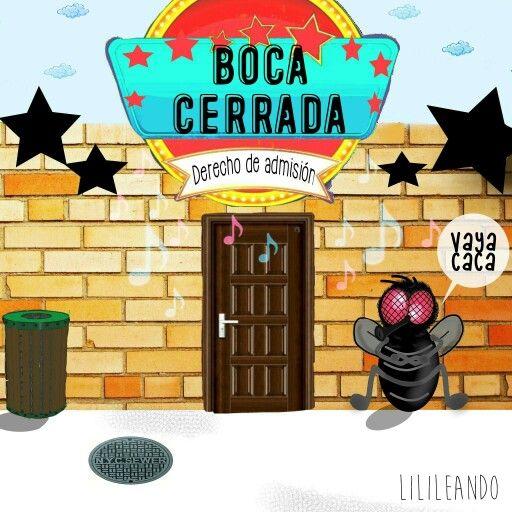 En boca cerrada no entran moscas by Lilileando