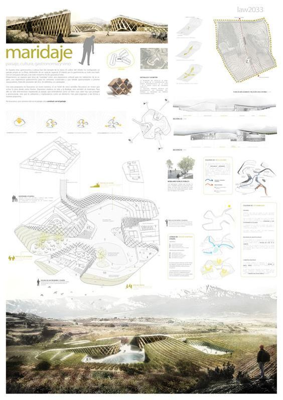 [A3N] : Landscape, Architecture & Wine Competition Winner ( Spain ) ( 1st prize : Maridaje ) / Javier Ureña Carazo, Isabel Rivas.: