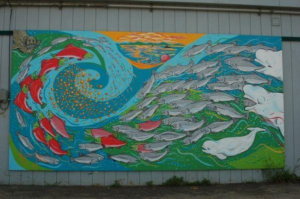 mural idea | salmon life cycle and predators