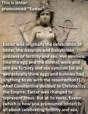 Easter is a pagan holiday, not a Christian one!