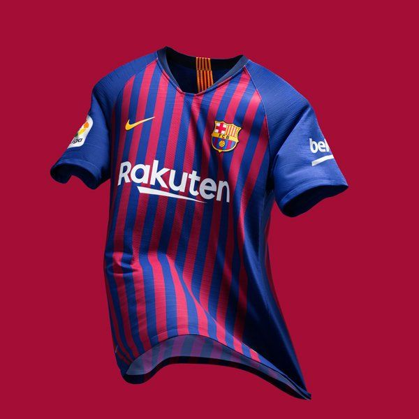 478617f4921 FC Barcelona Unveils their Home Kit for 2018 2019 Season Barcelona Uniform