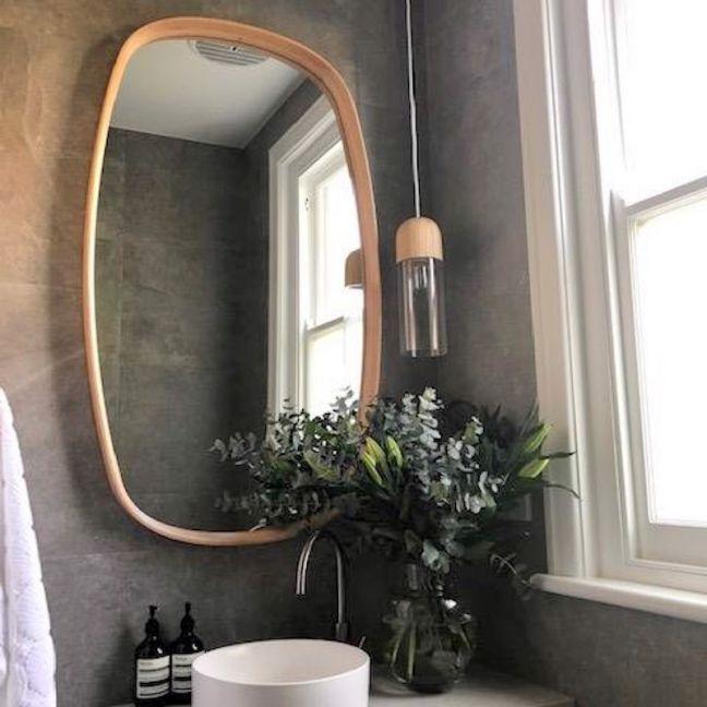 Wood Framed Bathroom Mirrors, Oak Framed Mirrors Bathroom