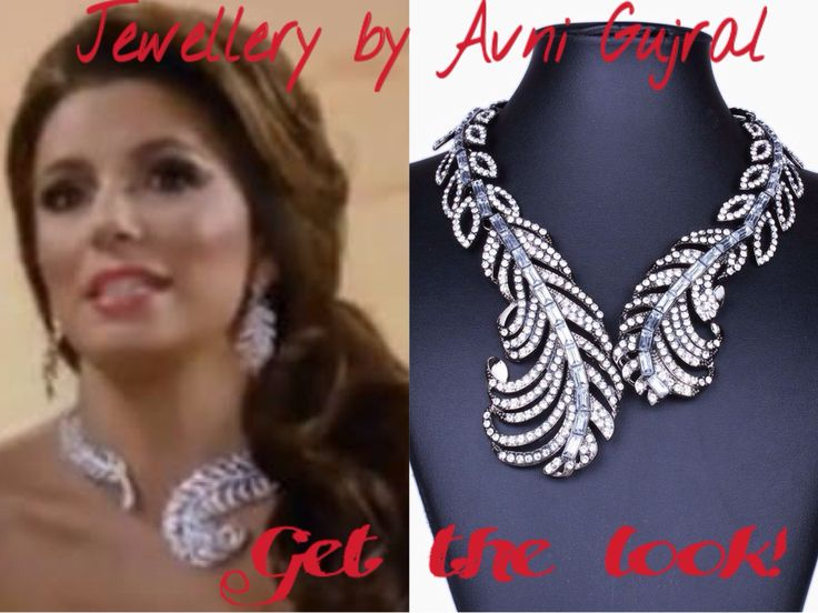Get this look @jewellery_by_avni_gujral #evalongoria #statementjewellery #necklace  #jewellerybyavnigujral currently exhibiting at the kiosk opposite geetanjali salon, Second floor Select Citywalk mall, New Delhi. From 11am-9:30pm