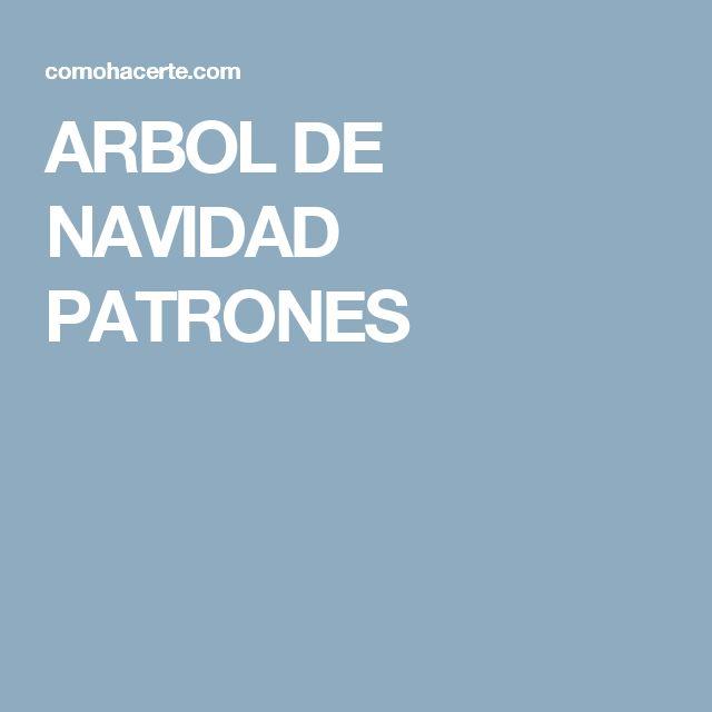 ARBOL DE NAVIDAD PATRONES