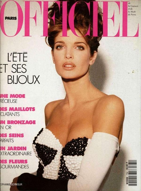 L'Officiel France cover with Stephanie Seymour - May 1991