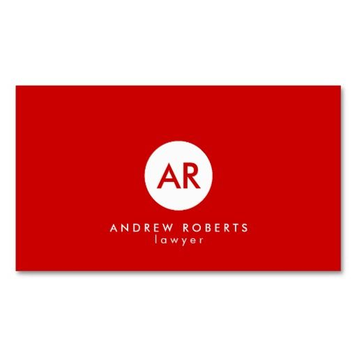 301 best white and red business cards images on pinterest black modern monogram red white circle dot business card reheart Gallery