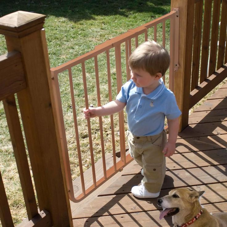 Cardinal gates stairway special outdoor gate in brown