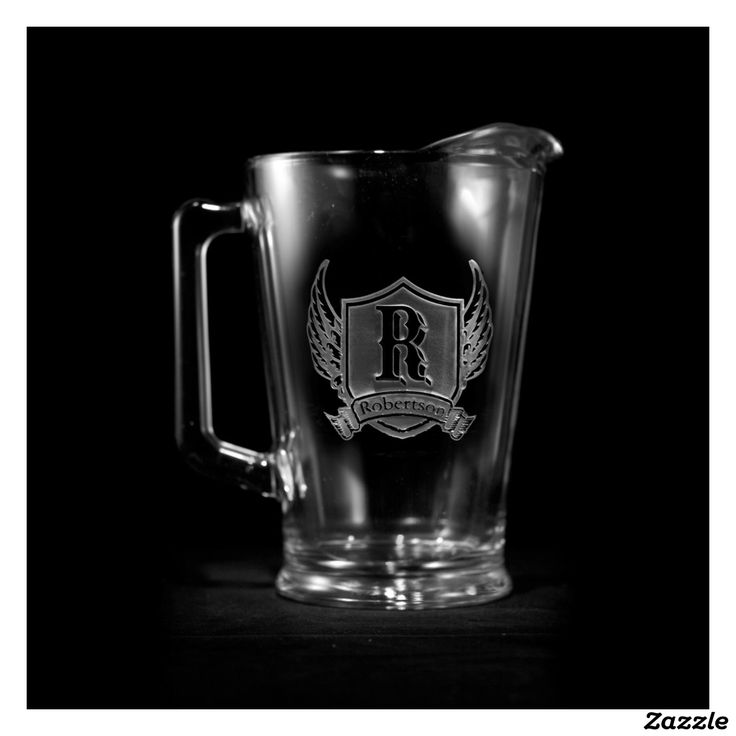 Great Winged Shield Personalized Pitcher