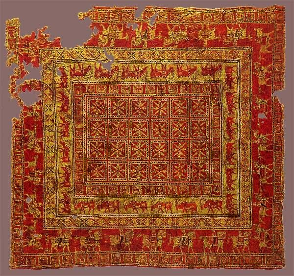 The Oldest Single Surviving Knotted Carpet In Existence Is