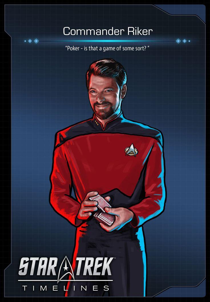 Commander Riker from Star Trek: The Next Generation in Star Trek Timelines