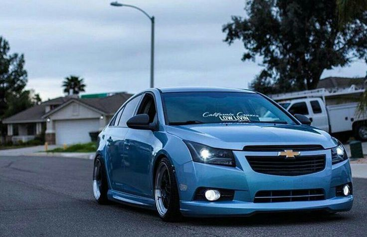 Light blue Chevy Cruze