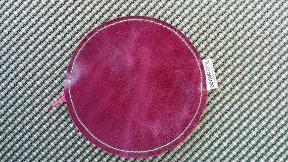 Coin purse leather coin purse circle coin purse leather