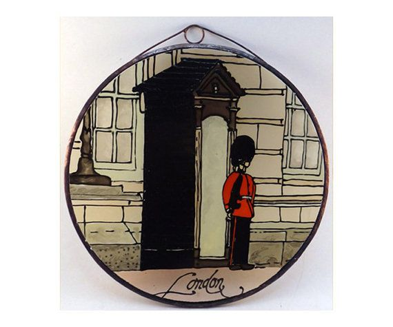 London  Painted Glass by KorosiArt on Etsy