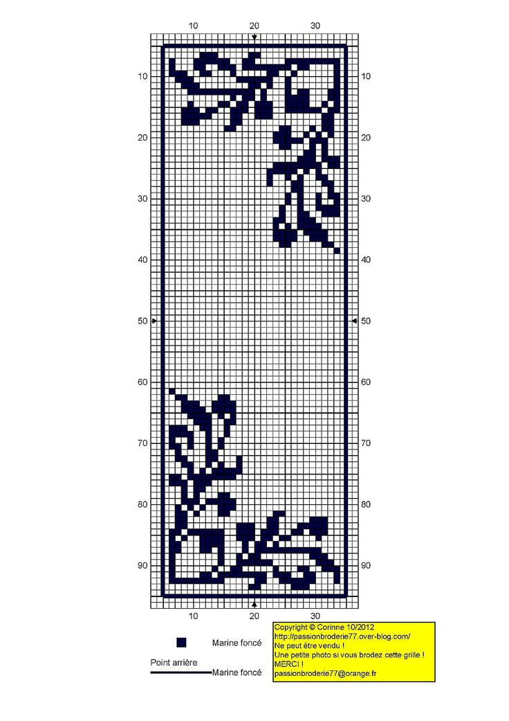 Ivy corner cross stitch