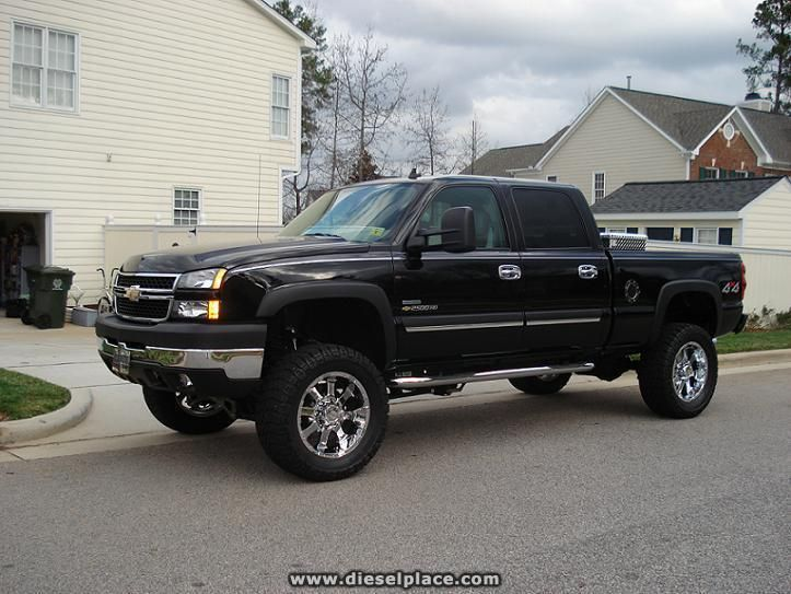 Lift Kits For Chevy Silverado Pics of BLACK trucks with aftermarket rims - Page 6 - Diesel Place ...