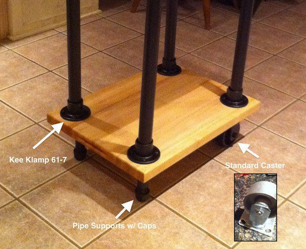 Diy Butcher Block Kitchen Cart : 29 best Kitchen Islands & Carts images on Pinterest Industrial pipe, Kitchens and Pipe furniture