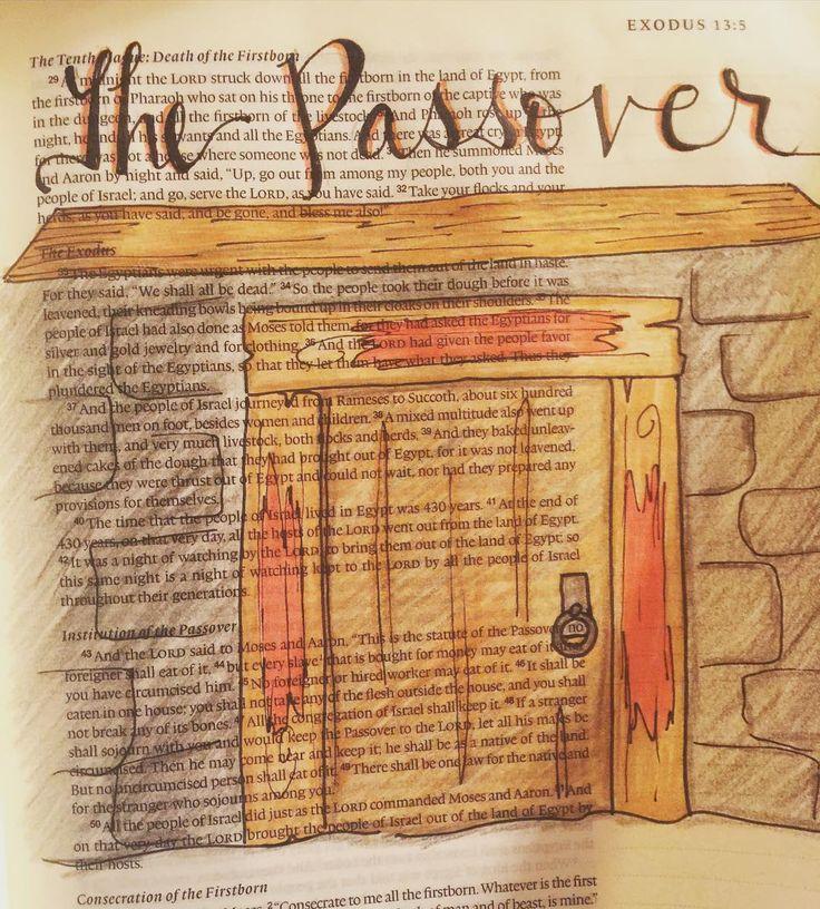 Exodus 12 #biblejournaling #biblejournalingcommunity #illustratedfaith