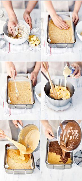 Englantilaisessa peltileivonnaisessa yhdistyvät kolme ihanuutta: rapea murokeksi, kinuski ja maitosuklaa.