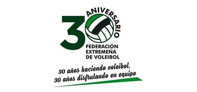 Día grande para el voleibol extremeño, y en este caso, no es debido a los éxitos en la cancha de alguno de sus representantes. El sábado 03 de junio se celebrarán los actos conmemorativos del 30 Aniversario de la constitución de la Federación Extremeña de Voleibol.