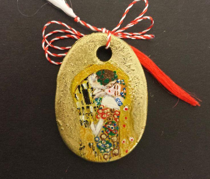"Pendant -""The Kiss"" by Gustav Klimt- Miniature"