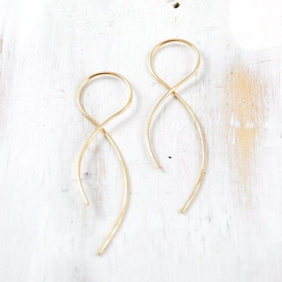 Gold And Rose Pull Through Earring Infinity Wish List Pinterest Earrings Jewelry