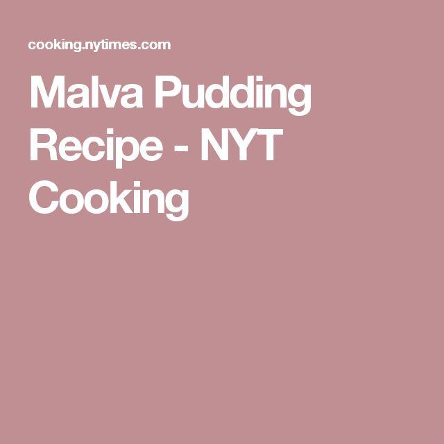 Malva Pudding Recipe - NYT Cooking