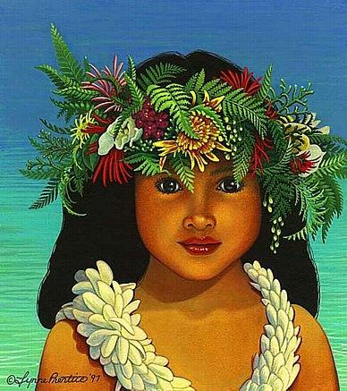 paintings of polynesian women