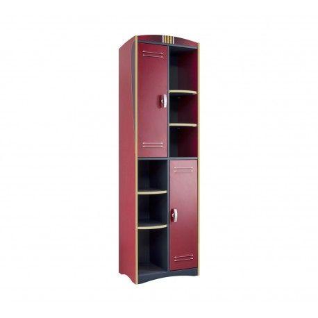Énorme bibliothèque contemporaine pour chambre enfant ! Sa structure est fabriquée en bois MDF de haute qualité. Elle est composée de 2 portes ouvrantes et p...