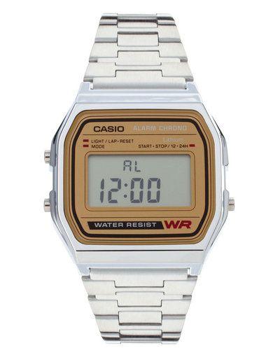 Casio Classic Retro Digital Watch A158WEA-9EF - Silver