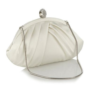 Ivory diamante ring clasp clutch bag - Evening & clutch bags - Handbags & purses - Women -