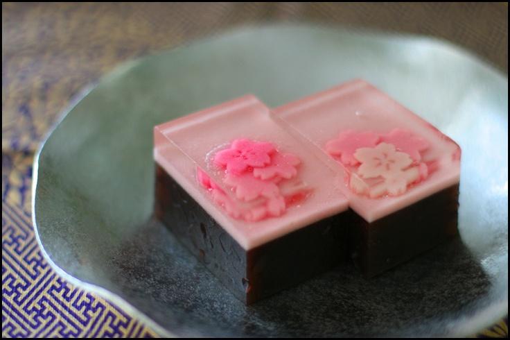 Japanese Sweets, wagashi, spring azuki beans cake