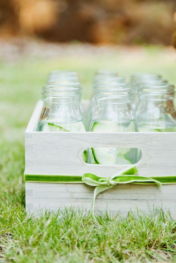 wedding ideaSignature Drinks, Spa Water, Best Wedding Ideas, Cucumber Water, Outdoor Parties, Mason Jars, Teas Parties, Events Drinks, Drinks Trays