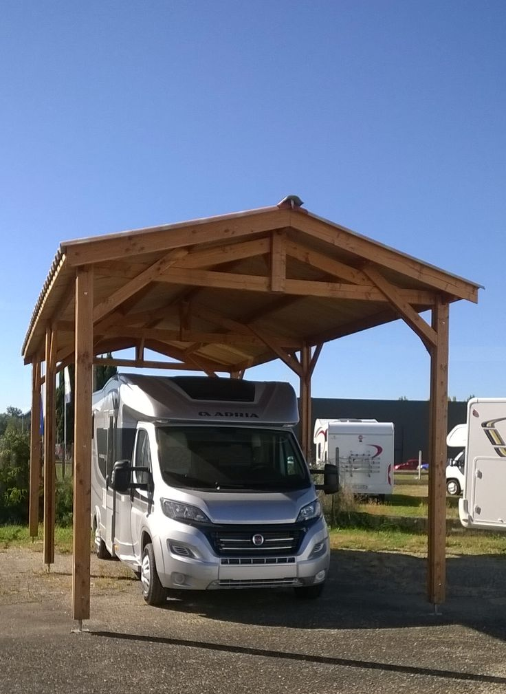 les 42 meilleures images du tableau carport camping car sur pinterest garage pergolas et. Black Bedroom Furniture Sets. Home Design Ideas
