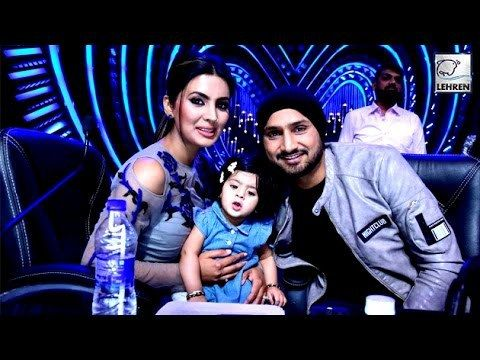 Indian Crickter Harbhajan Singh and his wife Geeta Basra graced the sets of Nach Baliye season 8 with their cute baby. Have a look