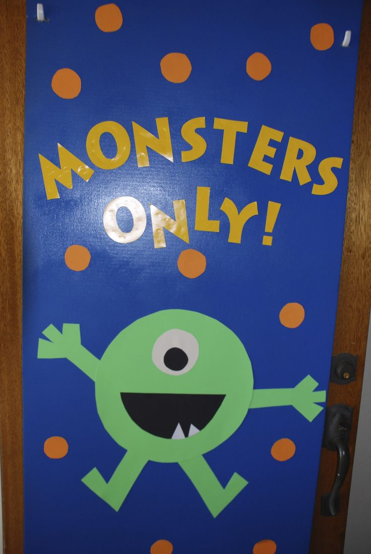 Best 25 monster door decoration ideas on pinterest for Art classroom decoration ideas