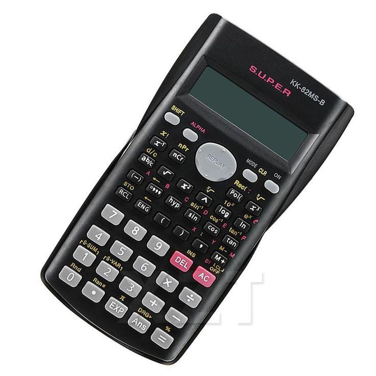 Newest Handheld Multi-function 2 Line Display Scientific Calculator 82MS-B Portable Multifunctional Calculator for Mathematics