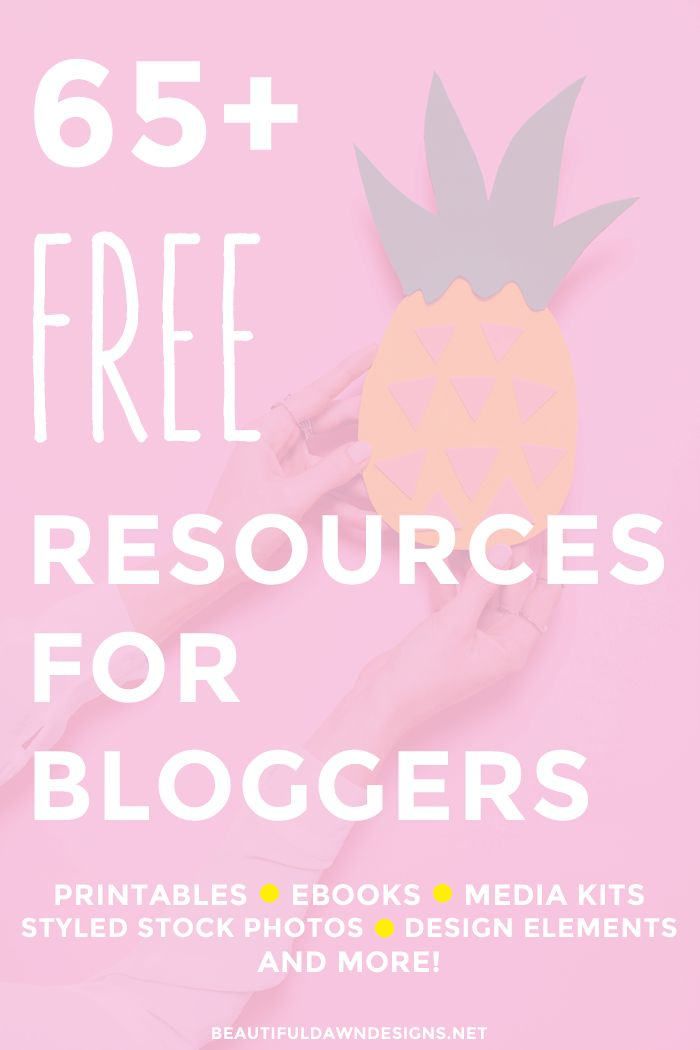Over 65 free resources for bloggers. This list includes ebook, printables, themes, styled stock photography and more!