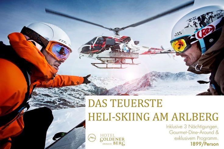 Heben Sie mit uns ab und landen Sie in einem der besten Skigebiete der Welt! http://bit.ly/1O8iM41  #heliskiing #lech #arlberg #goldenerberg #freeski