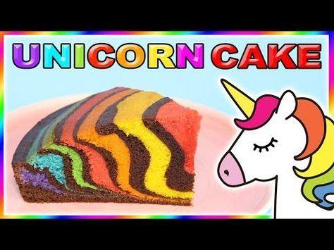 Aujourd'hui je te donne ma nouvelle recette de gâteau licorne arc-en-ciel. …