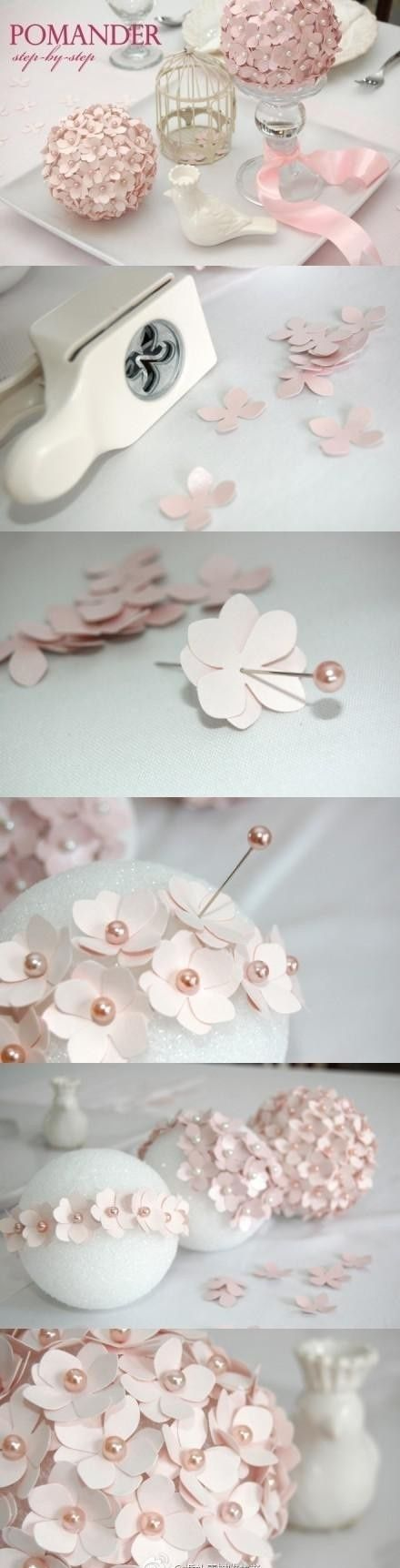 decorar com flores de papel