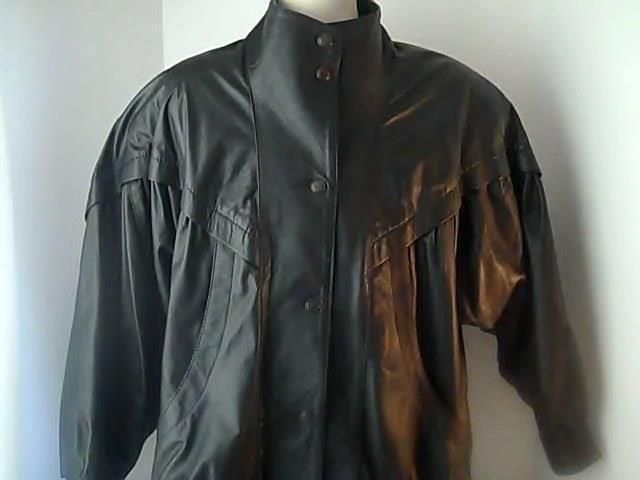 Giampler Mens  L Black Fine Leather Coat Jacket Argentina #Giampler #BasicleatherCoat