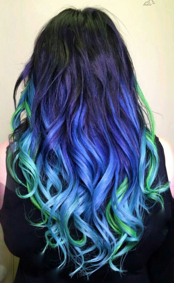 Blue And Green Hair Tips | www.imgkid.com - The Image Kid ...