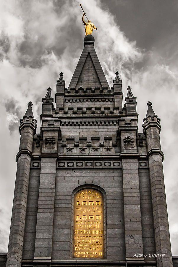 Golden Slc Temple Photograph  - Golden Slc Temple Fine Art Print